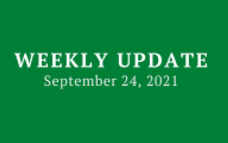 Weekly Update 9/24/21